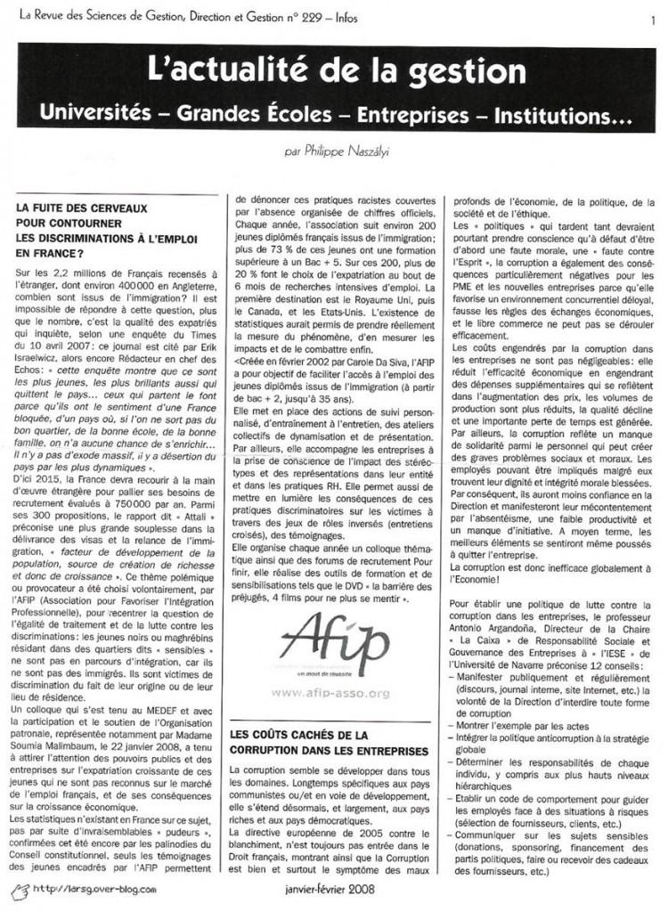 revue des sciences de gestion